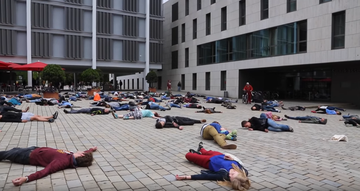 Screenshot Flashmob Seenotrettung.